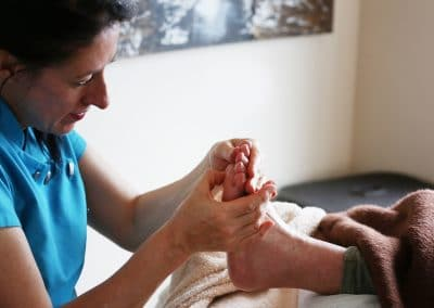 Esther-performing-Foot-Reflexology